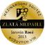 Zlatá medaile pro nejlepší Sauvignon na výstavě Dni vína Nemčiňany 2016